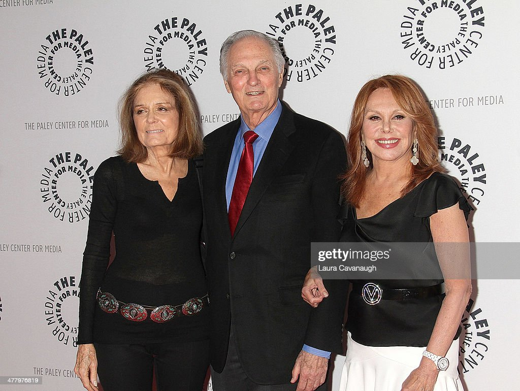 Gloria Steinem Alan Alda and Marlo Thomas attend 'Free To BeYou And Me At 40' at Paley Center For Media on March 11 2014 in New York City