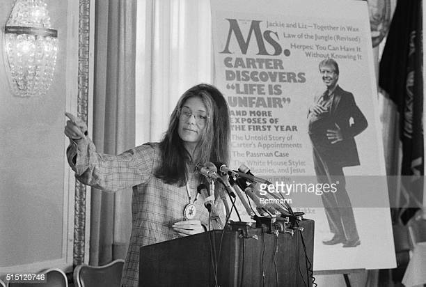 Gloria Steinem an editor of Ms Magazine at a news conference at the National Press club December 16th says that President Carter's first year in...