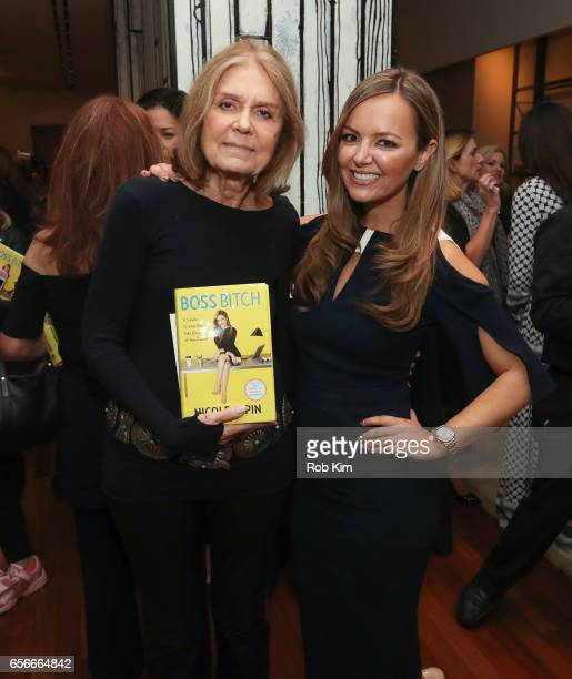 Gloria Steinem and Nicole Lapin attend the Female Bosses celebration and BOSS BITCH book launch and interactive panel event at The Core Club on March...