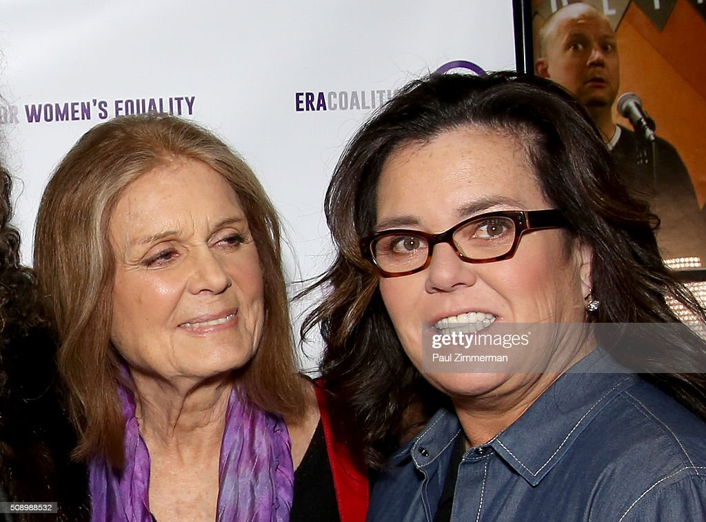 <a gi-track='captionPersonalityLinkClicked' href=/galleries/search?phrase=Gloria+Steinem&family=editorial&specificpeople=213078 ng-click='$event.stopPropagation()'>Gloria Steinem</a> (L) and <a gi-track='captionPersonalityLinkClicked' href=/galleries/search?phrase=Rosie+O%27Donnell&family=editorial&specificpeople=201730 ng-click='$event.stopPropagation()'>Rosie O'Donnell</a> attend A Night Of Comedy with Jane Fonda presented by the Fund For Women's Equality & ERA Coalition Carolines On Broadway on February 7, 2016 in New York City.