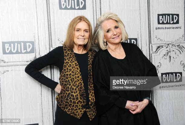Gloria Steinem and Sheila Nevins attend Build Series to discuss 'You Don't Look Your Age' at Build Studio on May 1 2017 in New York City