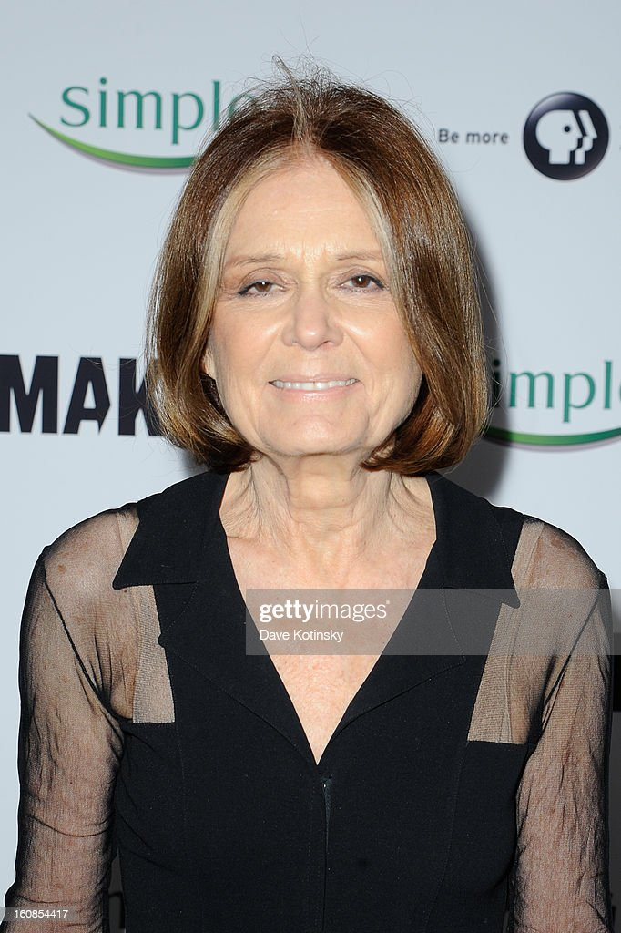 <a gi-track='captionPersonalityLinkClicked' href=/galleries/search?phrase=Gloria+Steinem&family=editorial&specificpeople=213078 ng-click='$event.stopPropagation()'>Gloria Steinem</a> arrives at 'MAKERS: Women Who Make America' New York Premiere at Alice Tully Hall on February 6, 2013 in New York City.