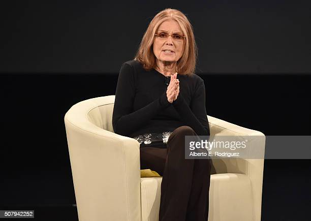 Gloria Steinem at the 2016 MAKERS Conference at Terranea Resort on February 1 2016 in Rancho Palos Verdes California