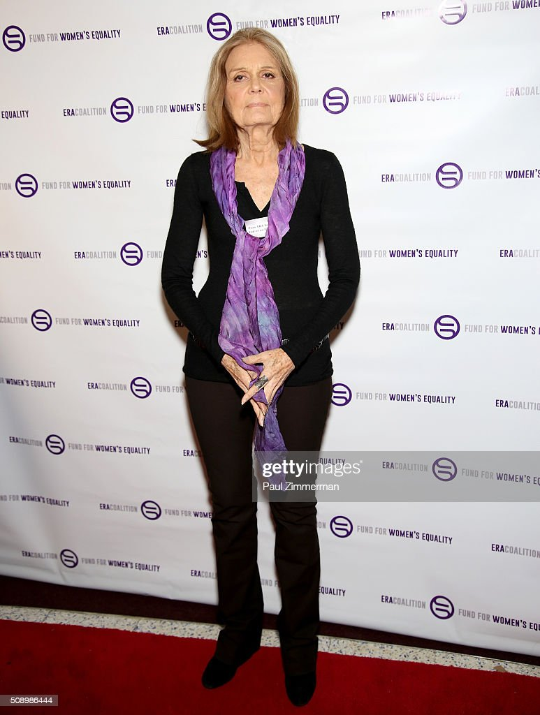 <a gi-track='captionPersonalityLinkClicked' href=/galleries/search?phrase=Gloria+Steinem&family=editorial&specificpeople=213078 ng-click='$event.stopPropagation()'>Gloria Steinem</a> attends A Night Of Comedy with Jane Fonda presented by the Fund For Women's Equality & ERA Coalition Carolines On Broadway on February 7, 2016 in New York City.