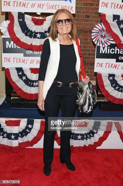 Gloria Steinem attends as awardwinning filmmaker Michael Moore celebrates his Broadway Opening Night in 'The Terms of My Surrender' at Belasco...
