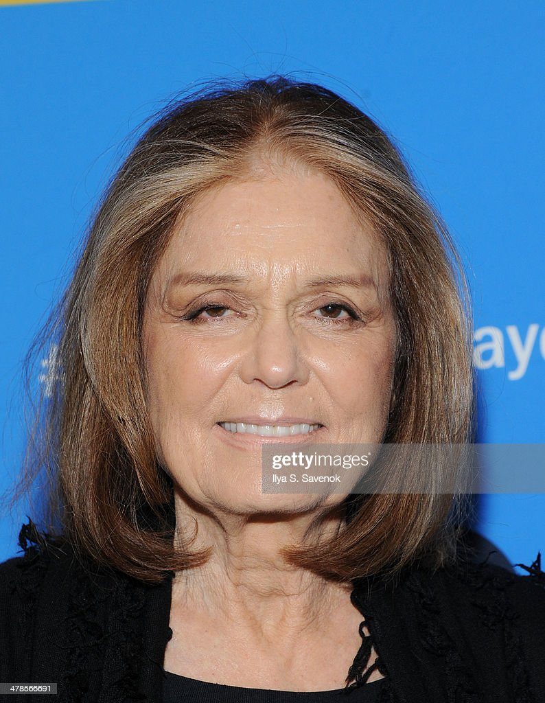 <a gi-track='captionPersonalityLinkClicked' href=/galleries/search?phrase=Gloria+Steinem&family=editorial&specificpeople=213078 ng-click='$event.stopPropagation()'>Gloria Steinem</a> attends 'Paycheck To Paycheck: The Life And Times Of Katrina Gilbert' New York Premiere at HBO Theater on March 13, 2014 in New York City.