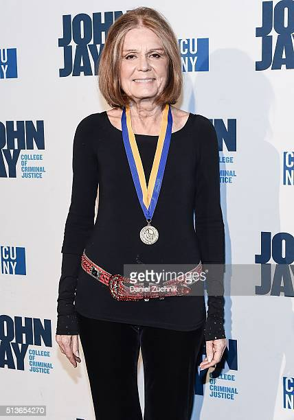 Gloria Steinem attends the 2016 John Jay Medal For Justice Award at Gerald W Lynch Theater on March 3 2016 in New York City