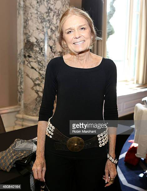 Gloria Steinem attends the Advancing Women Executives Afternoon Tea on June 18 2014 in New York City