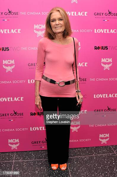 Gloria Steinem attends The Cinema Society and MCM with Grey Goose screening of Radius TWC's 'Lovelace' at MoMA on July 30 2013 in New York City