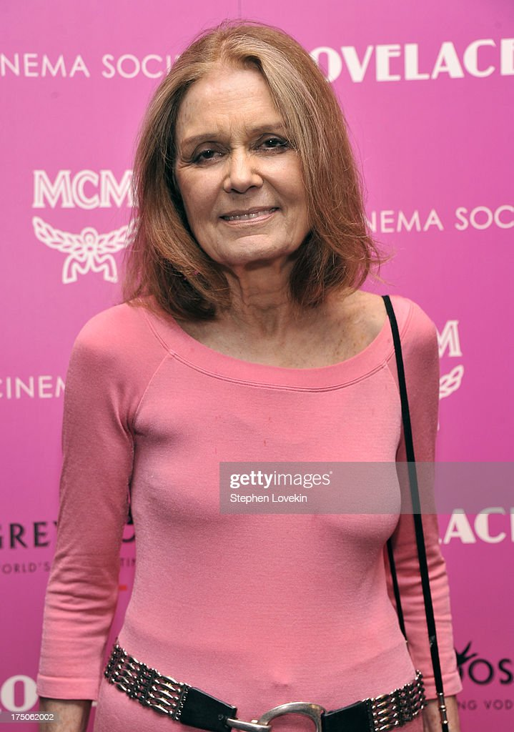 <a gi-track='captionPersonalityLinkClicked' href=/galleries/search?phrase=Gloria+Steinem&family=editorial&specificpeople=213078 ng-click='$event.stopPropagation()'>Gloria Steinem</a> attends The Cinema Society and MCM with Grey Goose screening of Radius TWC's 'Lovelace' at MoMA on July 30, 2013 in New York City.