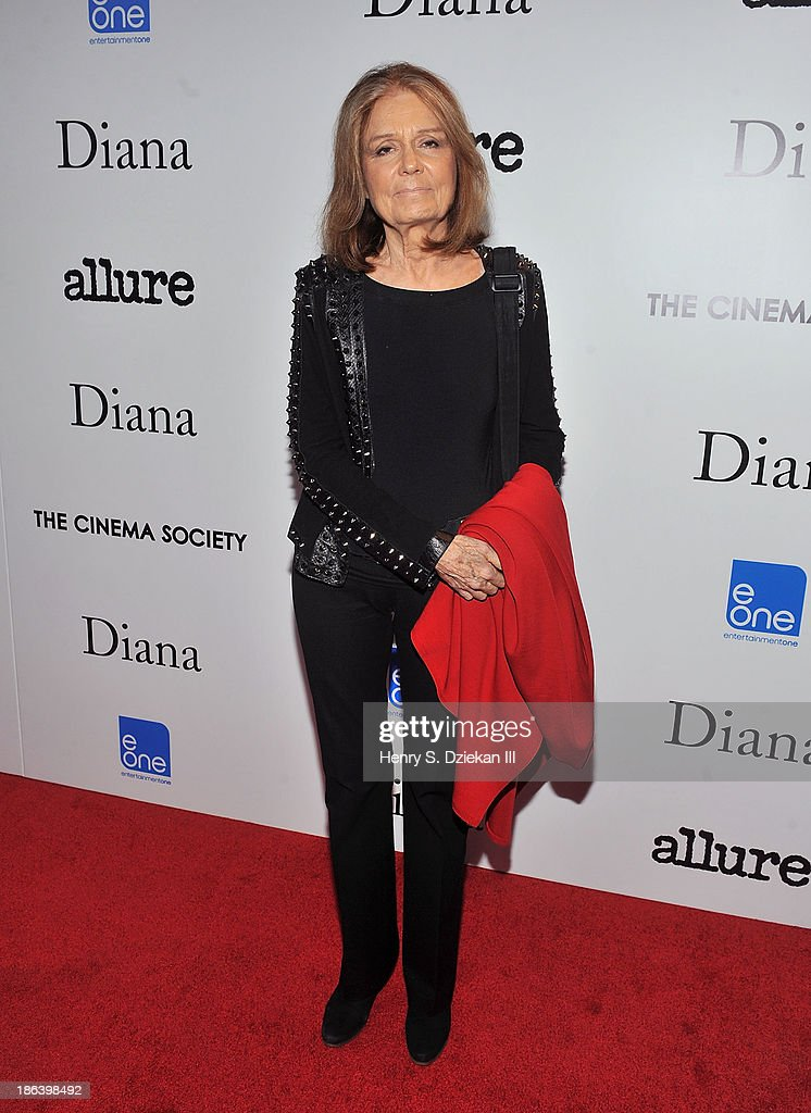 <a gi-track='captionPersonalityLinkClicked' href=/galleries/search?phrase=Gloria+Steinem&family=editorial&specificpeople=213078 ng-click='$event.stopPropagation()'>Gloria Steinem</a> attends The Cinema Society with Linda Wells & Allure Magazine premiere of Entertainment One's 'Diana' at SVA Theater on October 30, 2013 in New York City.