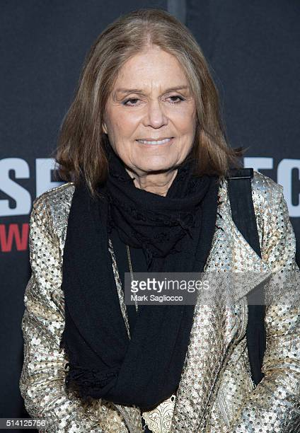 Gloria Steinem attends the 'Eclipsed' Broadway Opening Night at the Golden Theatre on March 6 2016 in New York City