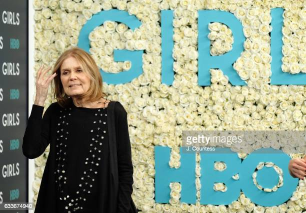 Gloria Steinem attends The New York Premiere Of The Sixth Final Season Of 'Girls' at Alice Tully Hall Lincoln Center on February 2 2017 in New York...