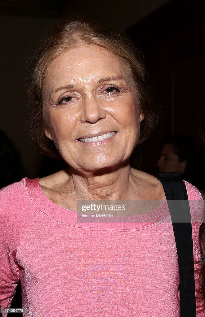 <a gi-track='captionPersonalityLinkClicked' href=/galleries/search?phrase=Gloria+Steinem&family=editorial&specificpeople=213078 ng-click='$event.stopPropagation()'>Gloria Steinem</a> attends the Opening Night Performance Reception for the Encores! Off-Center Production of 'I'm Getting My Act Together And Taking It On The Road' Opening Night Reception at New York City Center on July 24, 2013 in New York City.