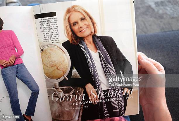 Gloria Steinem feature in the Lands' End catalog has created a controversy with antiabortion groups Illustration photographed in Washington DC on...