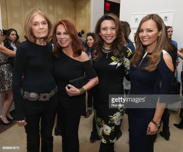 Gloria Steinem Marlo Thomas Lili Gil Valletta and Nicole Lapin attend the Female Bosses celebration and BOSS BITCH book launch and interactive panel...