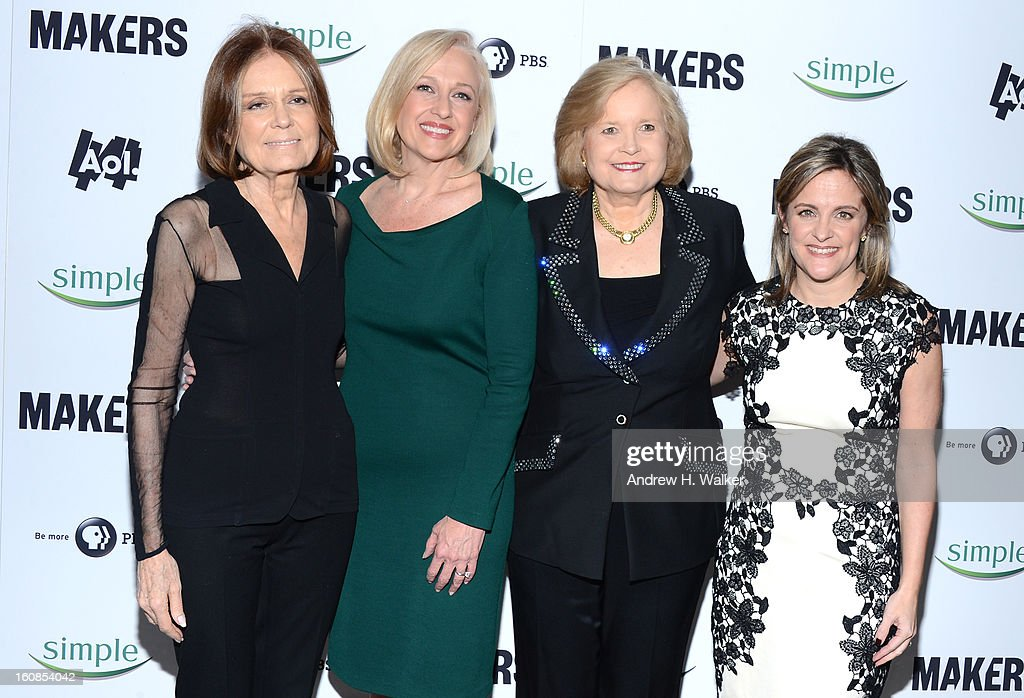 <a gi-track='captionPersonalityLinkClicked' href=/galleries/search?phrase=Gloria+Steinem&family=editorial&specificpeople=213078 ng-click='$event.stopPropagation()'>Gloria Steinem</a>, Paula Kerger, Sharon Percy Rockefeller, and Dyllan McGee attend the red carpet premiere of