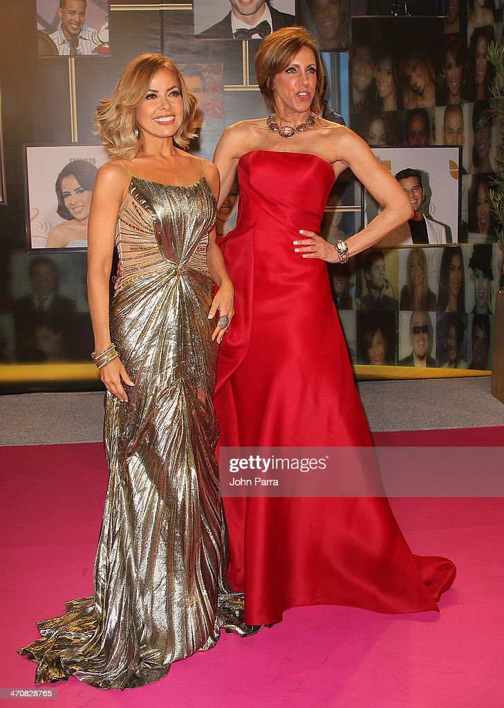 Gloria Trevi and Lili Estefan attend Premio Lo Nuestro a la Musica Latina 2014 at American Airlines Arena on February 20, 2014 in Miami, Florida.