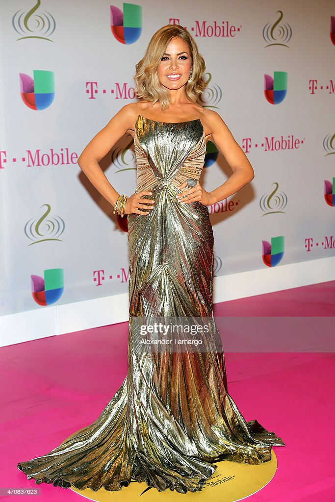 Gloria Trevi attends Premio Lo Nuestro a la Musica Latina 2014 at American Airlines Arena on February 20, 2014 in Miami, Florida.