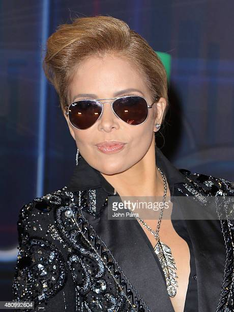 Gloria Trevi attends Univision's Premios Juventud 2015 at Bank United Center on July 16 2015 in Miami Florida