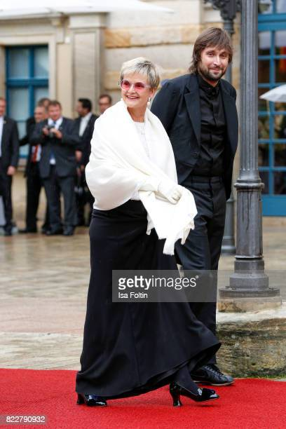 Gloria von Thurn und Taxis and Francesco Vezzoli attend the Bayreuth Festival 2017 Opening on July 25 2017 in Bayreuth Germany