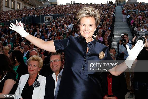 Gloria von Thurn und Taxis attends the opera 'La Traviata' at the Thurn Taxis Castle Festival Opening on July 12 2013 in Regensburg Germany