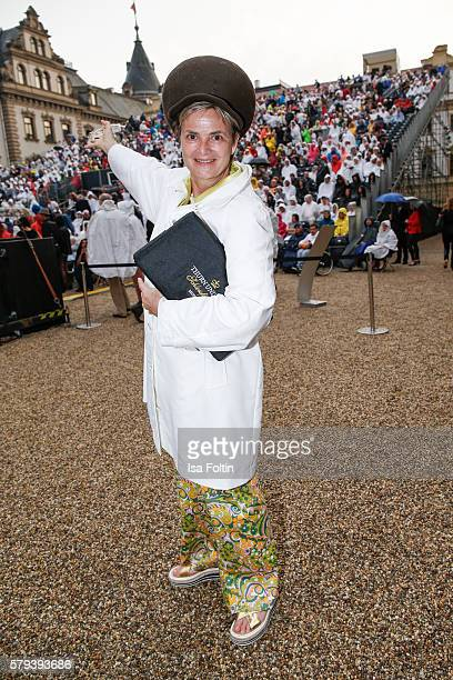 Gloria von Thurn und Taxis attends the Scorpions Concert during the Thurn Taxis Castle Festival 2016 on July 23 2016 in Regensburg Germany