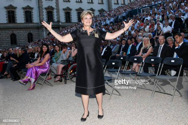 Gloria von Thurn und Taxis attends the Thurn Taxis Castle Festival 2014 Rigoletto on July 18 2014 in Regensburg Germany