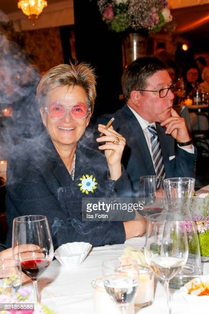 Gloria von Thurn und Taxis during the Jose Carreras concert at Thurn Taxis Castle Festival 2017 on July 23 2017 in Regensburg Germany