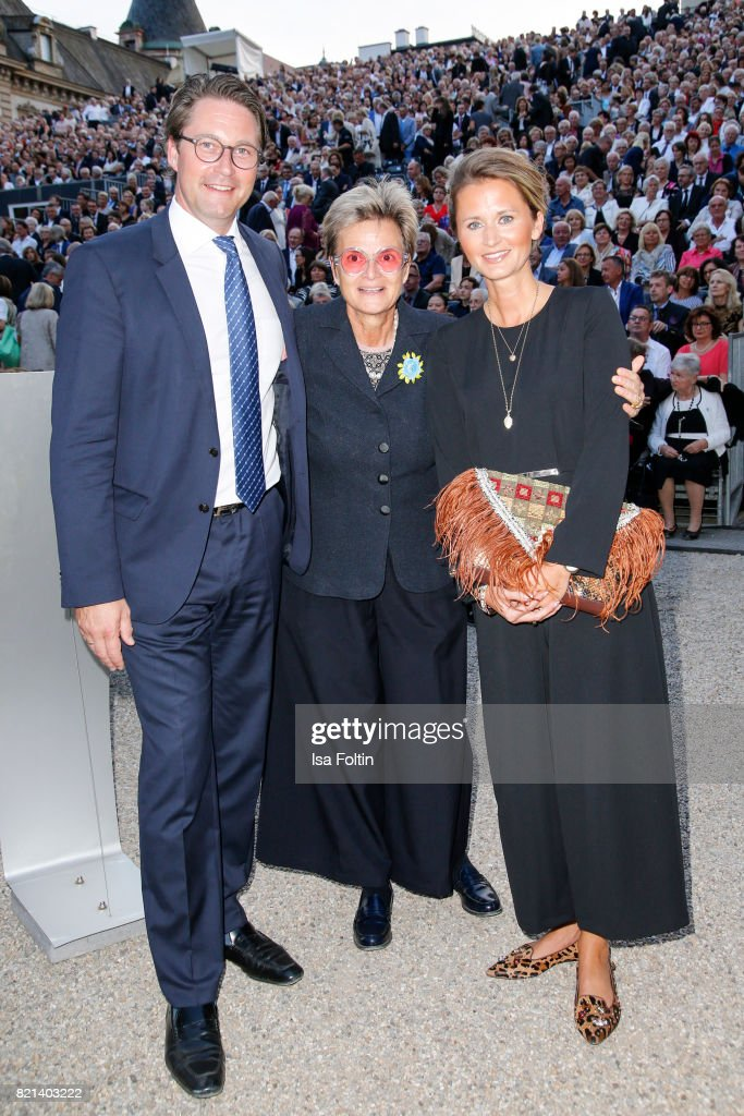 Gloria von Thurn und Taxis during the Jose Carreras concert at Thurn & Taxis Castle Festival 2017 on July 23, 2017 in Regensburg, Germany.