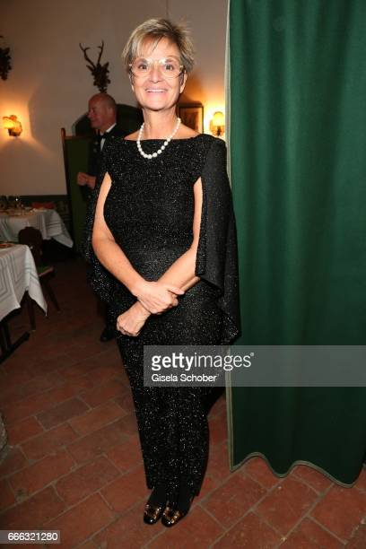 Gloria von Thurn und Taxis during the opening of the Easter Festival 2017 'Walkuere' opera premiere on April 8 2017 in Salzburg Austria The opera is...