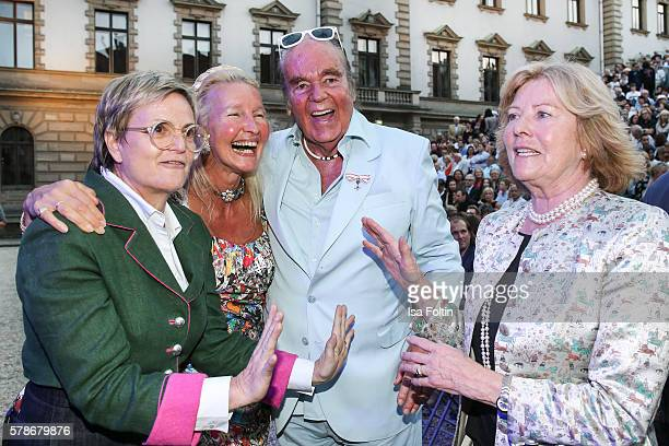 Gloria von Thurn und Taxis HansHermann Weyer and his wife Christina Weyer and Antoinette Bagusat attend the Tom Jones Concert during the Thurn Taxis...