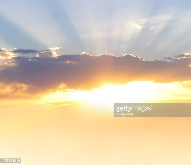 Glorious Morning Beautiful Sunrise or Sunset with Rays