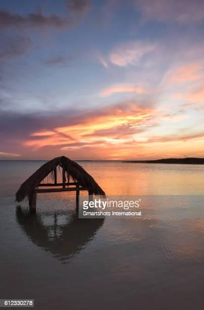 Glorious sunset at the Caribbean sea near Cayo Santa Maria, Cuba