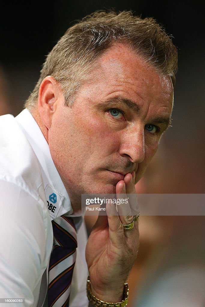 Glory coach Ian Ferguson looks on during the round 18 A-League match between the Perth Glory and the Brisbane Roar at nib Stadium on January 26, 2013 in Perth, Australia.