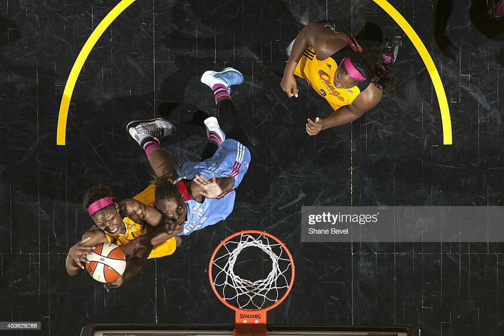 <a gi-track='captionPersonalityLinkClicked' href=/galleries/search?phrase=Glory+Johnson&family=editorial&specificpeople=5042377 ng-click='$event.stopPropagation()'>Glory Johnson</a> #25 of the Tulsa Shock shoots the ball against the Tulsa Shock during the WNBA game on July 31, 2014 at the BOK Center in Tulsa, Oklahoma.