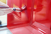 Homeowner gives his front door a new bold lick of paint