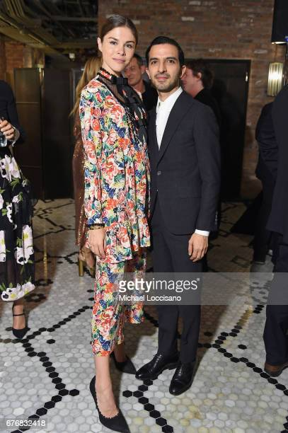 Glossier Founder CEO Emily Weiss and The Business of Fashion Founder CEO Imran Amed attend cocktails hosted by The Business of Fashion to celebrate...