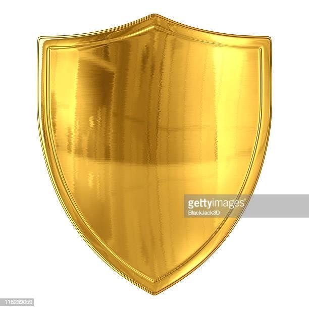 Glossy Gold Shield