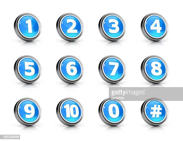Glossy numbers icon set