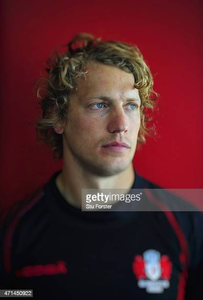 Gloucester centre Billy Twelvetrees pictured after Gloucester Rugby open training ahead of their European Challenge Cup final against Edinburgh on...