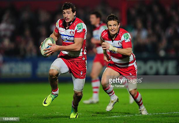 Gloucester fullback Jonny May in action during the Heineken Cup match between Gloucester and Harlequins at Kingsholm Stadium on November 19 2011 in...