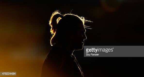Gloucester hooker Richard Hibbard looks on during the warm up before the European Rugby Challenge Cup semi final match between Gloucester Rugby and...