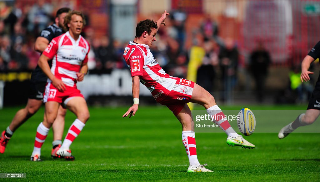 Gloucester player Billy Burns in action during the Aviva Premiership match between Gloucester Rugby and Newcastle Falcons at Kingsholm Stadium on...
