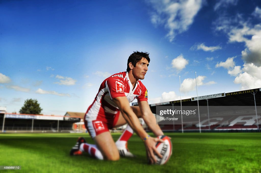 Gloucester Rugby and Wales player <a gi-track='captionPersonalityLinkClicked' href=/galleries/search?phrase=James+Hook&family=editorial&specificpeople=710391 ng-click='$event.stopPropagation()'>James Hook</a>, pictured at Kingsholm Stadium on August 13, in Gloucester, England.