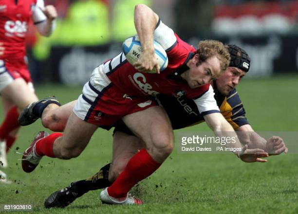 Gloucester's James SimpsonDaniel is tackled by Worcester's Tom Harding during their 2331 victory in the European Challenge Cup semifinal match at...