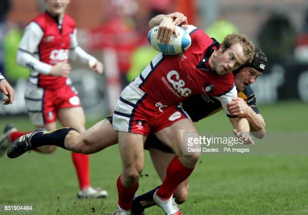 Gloucester's James SimpsonDaniel is tackled by Worcester's Tom Harding during the European Challenge Cup semifinal match at Kingsholm Gloucester