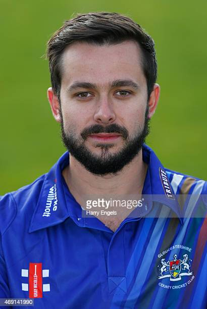 Gloucestershire player Jack Taylor poses for a photograph during the Gloucestershire CCC Photocall at The County Ground on April 10 2015 in Bristol...