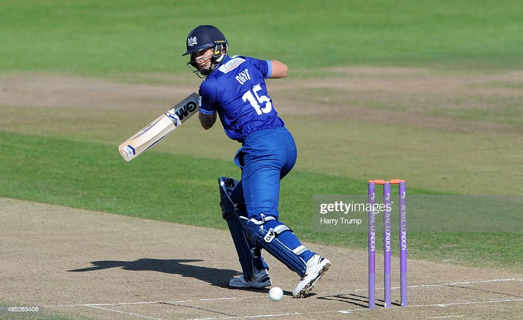 Gloucestershire's Chris Dent cuts during the Royal London OneDay Cup Quarter Final between Gloucestershire and Hampshire at The County Ground on...