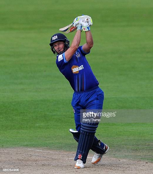 Gloucestershire's Geraint Jones drives during the Royal London OneDay Cup Quarter Final between Gloucestershire and Hampshire at The County Ground on...
